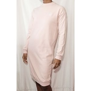 Adidas Light Pink Sweatshirt Dress 860